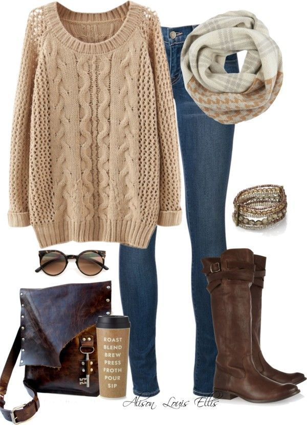 Simple cozy fall outfit