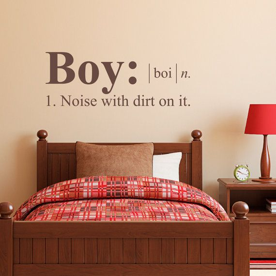 Boy Wall Decal Dictionary Definition By StephenEdwardGraphic