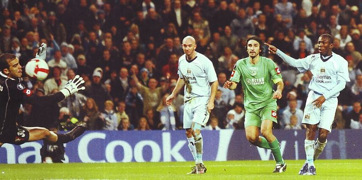 Man City 2 Omonia 1 in Oct 2008 at Eastlands. Shaun Wright-Phillips scores to make it 2-0 after 55 minutes in the UEFA Cup 1st Round, 2nd Leg.