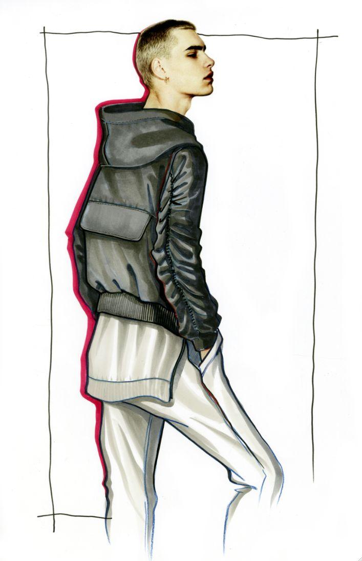 Fear of God LA | Illustrated by Paul Keng | @paulkengillustrator | Model: Jonathan Bauer Hayden | The Fashionisto