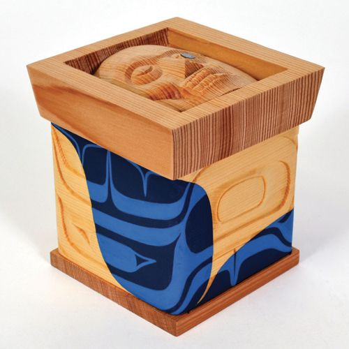 'Box of Nolax' by Nathan Wilson, Haisla artist.