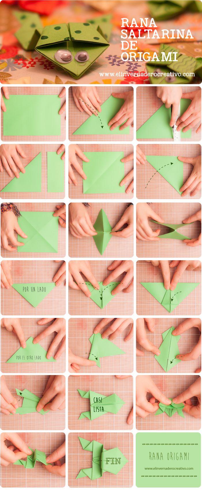 Tutorial: Ranas saltarinas origami. | El invernadero creativo