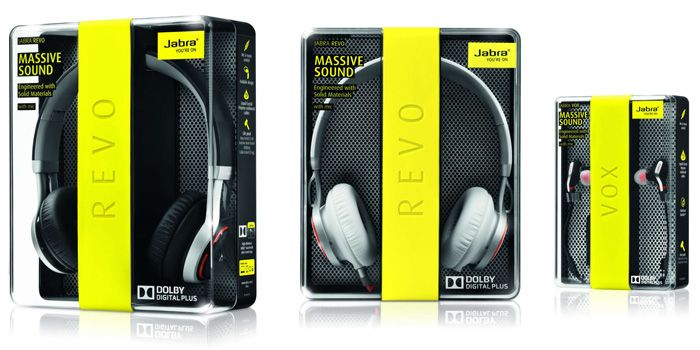 Jabra Revo - headphones packaging The Dieline -