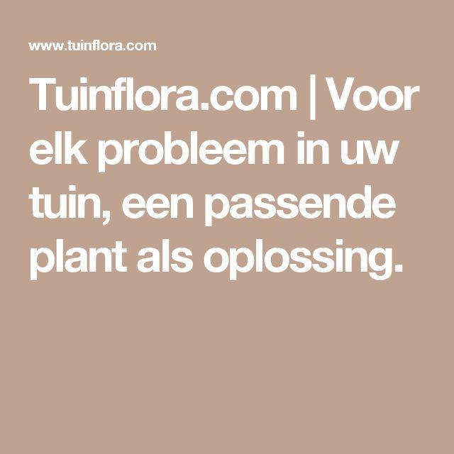 Tuinflora.com | Voor elk probleem in uw tuin, een passende plant als oplossing.