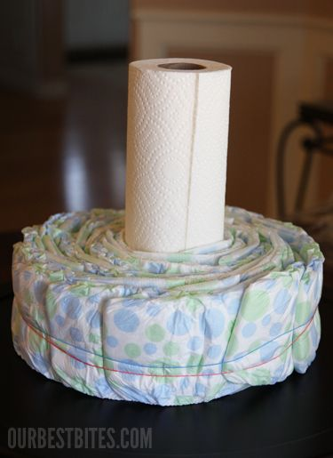 How to make a diaper cake....