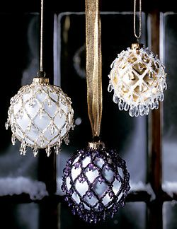 Beaded Ornaments (Download Tutorial) @Judith Zissman de Munck Nieusma and @Kat Ellis Nieusma  :)