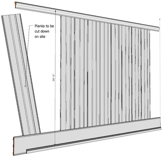 "Elite Bayside Beadboard Kit 55, containing everything you need for 8 running feet, up to 55 ½"" "" high. The kit consists of: 1- 8ft length of Lower Rail, Tall Cap Trim, Shoe Trim and 6- 8ft lengths of beadboard planks with 3 beads per plank (enough for 8 running feet) The rails and stiles are made from primed MDF, the Cap is made from primed JF Poplar for better impact and moisture resistance, and the Shoe Trim is made from cellular PVC for ultimate water resistance. When the 6 lengt..."