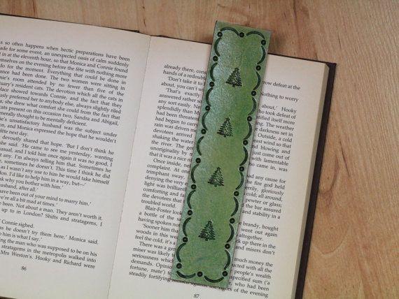 Christmas Tree Bookmark  Xmas Tree Bookmark  by TinasLeatherCrafts. RepinTo Remember.