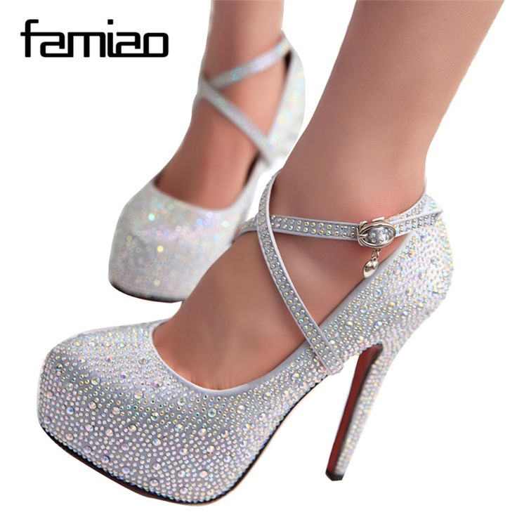 2016 women high heels prom wedding shoes lady crystal platforms silver Glitter rhinestone bridal shoes thin heel party pump #Pump shoes http://www.ku-ki-shop.com/shop/pump-shoes/2016-women-high-heels-prom-wedding-shoes-lady-crystal-platforms-silver-glitter-rhinestone-bridal-shoes-thin-heel-party-pump/
