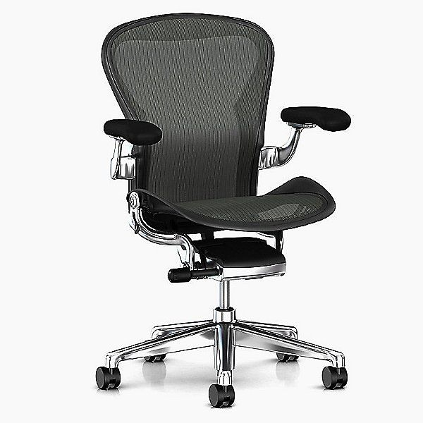 Aeron Office Chair Size C Carbon In 2020 Herman Miller Aeron Modern Fan Industrial Office Chairs
