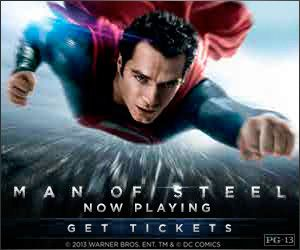 Man of Steel | Trailer and Cast - Yahoo! Movies.  We saw this today and thought it was very good.