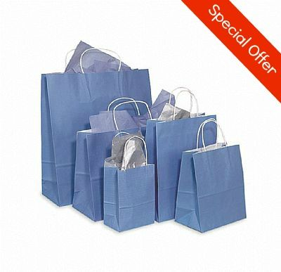 Our Colour tone on white paper bags are made of 40 - 60% recycled paper. All bags have a side and bottom gusset, twisted rope handles and a white interior. Available in various different colours and sizes these are one of our top sellers.