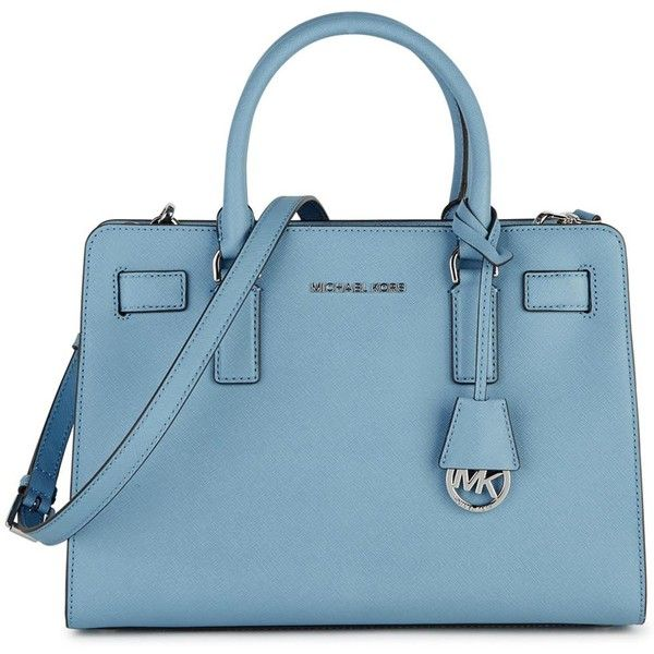 womens tote bags michael kors dillon light blue leather tote 415. Black Bedroom Furniture Sets. Home Design Ideas
