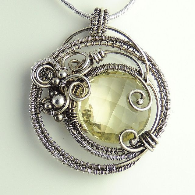 Lemon Quartz Dreamcatcher Necklace by Samantha_Braund, via Flickr