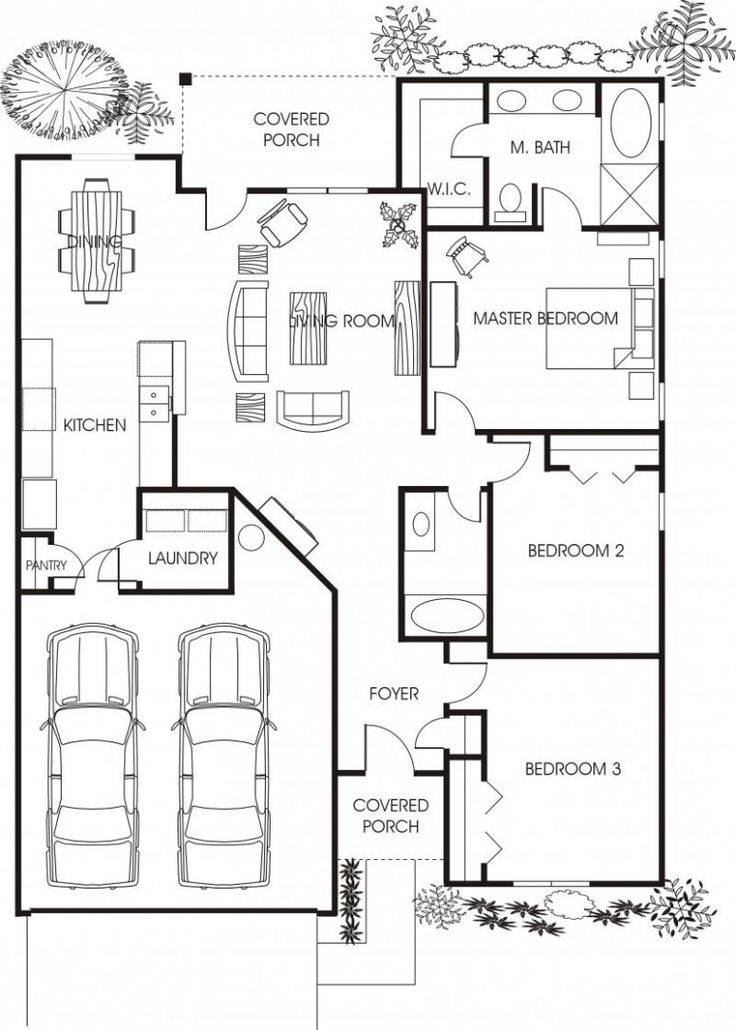8 best 100 sqm floor plans and pegs images on pinterest for 2 bedroom house plans with attached garage