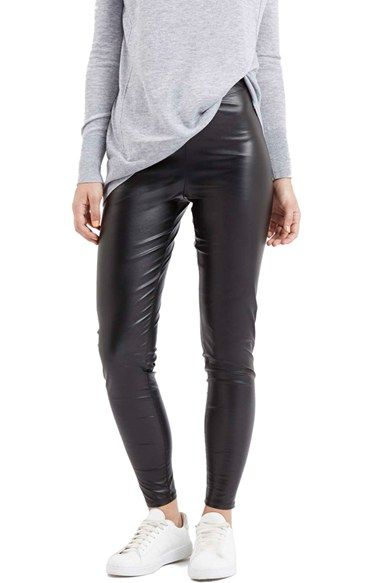 Free shipping and returns on Topshop 'Wet Look' Leggings at Nordstrom.com. Thesepocketless,leather-look leggings add a high-shine finish to your outfit.