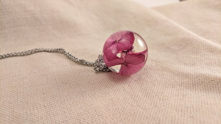 Pink Hydrangea Pendant