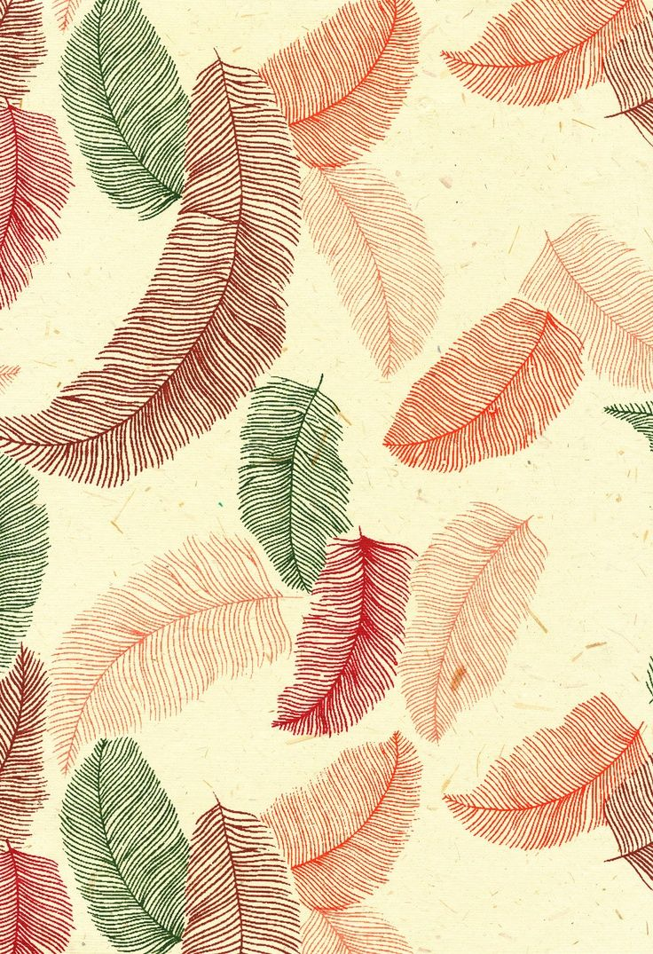 5 sheets Feather Pattern textured Indian Screen Printed Paper paper -…