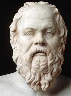 """470 v.Chr.- 399 v.Chr.: Socrates   """"The only true wisdom is in knowing you know nothing."""" (Grondlegger van het westerse humanisme.)"""