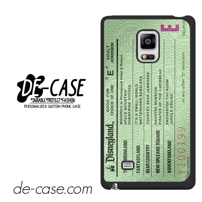 Green Disneyland Ticket DEAL-4862 Samsung Phonecase Cover For Samsung Galaxy Note Edge
