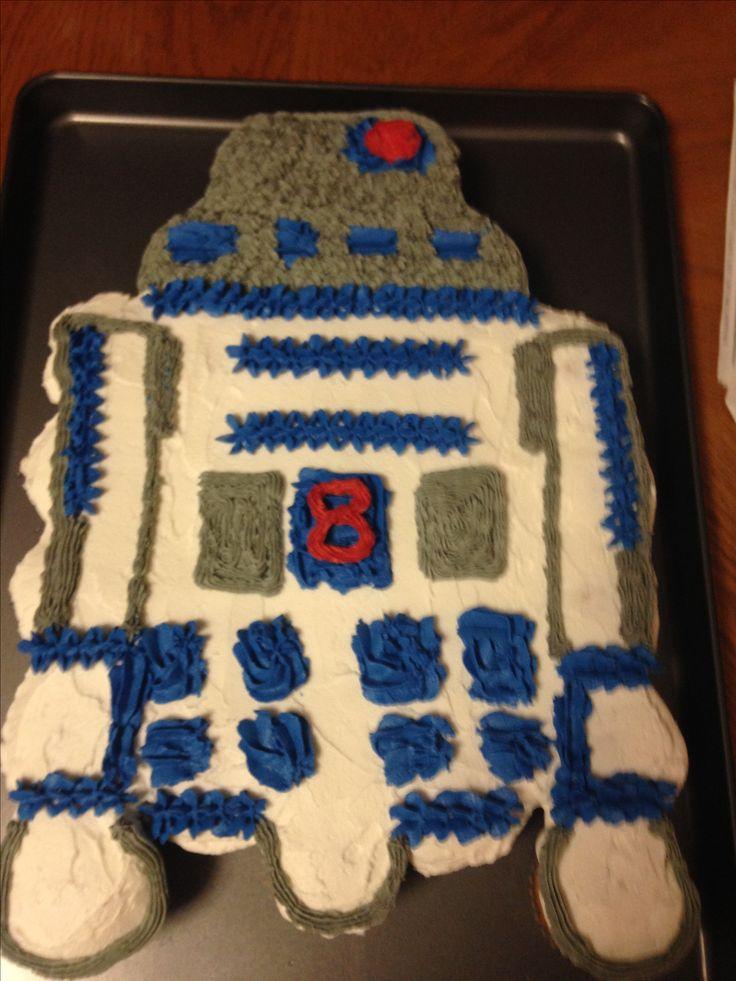 R2D2 cupcake cake