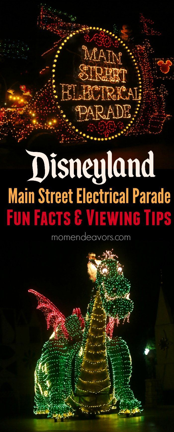 Disneyland Main Street Electrical Parade Fun Facts & Viewing Tips