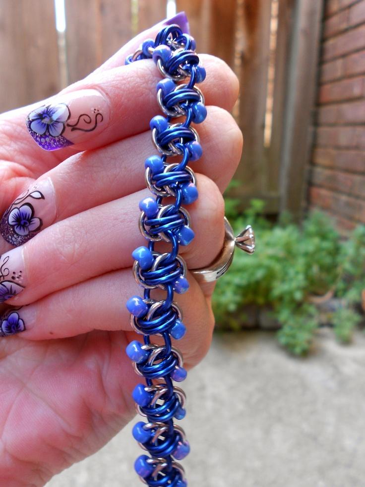 Bluebonnet Chainmaille Bracelet. $20.00, via Etsy.