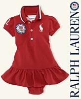 "Ralph Lauren Baby Dress, Baby Girls Team USA Olympic ""London"" Polo Dress"