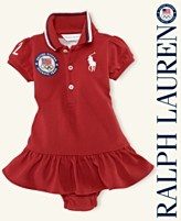 "Ralph Lauren Baby Dress, Baby Girls Team USA Olympic ""London"" Polo Dress"