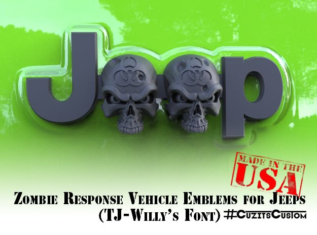 Zombie Response Vehicle Emblems for Jeeps