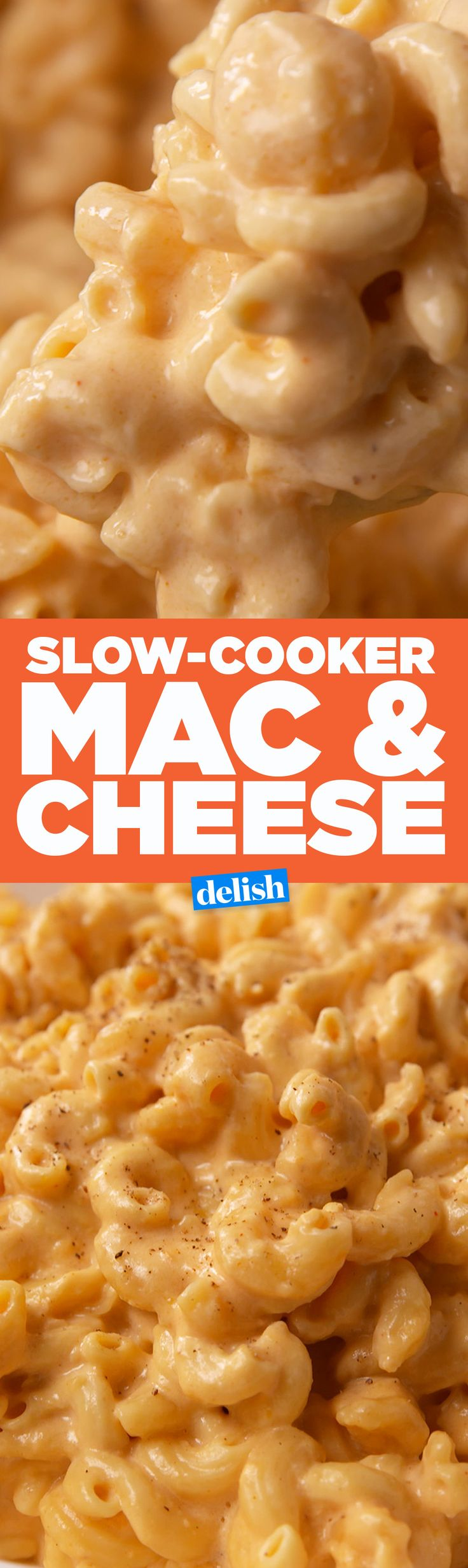 Slow-Cooker Mac & Cheese is so much better than the stovetop stuff. Get the recipe on Delish.com.
