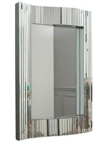 Meraviglioso specchio con cornice in vetro a specchio con