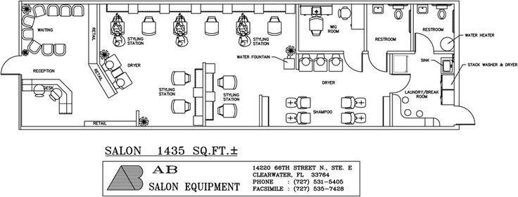 17 best images about salon layout plans on pinterest for Ab salon equipment