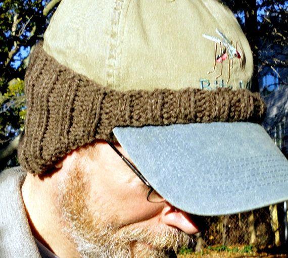 Hand Knit Ball Cap Ear Warmer  Cocoa by thewidowswalk on Etsy