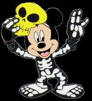 Imagenes de dibujos coloreados de mickey mouse en halloween disfrazado de fantasma, calavera, conde dracula y con algunos de sus amigos.A i...