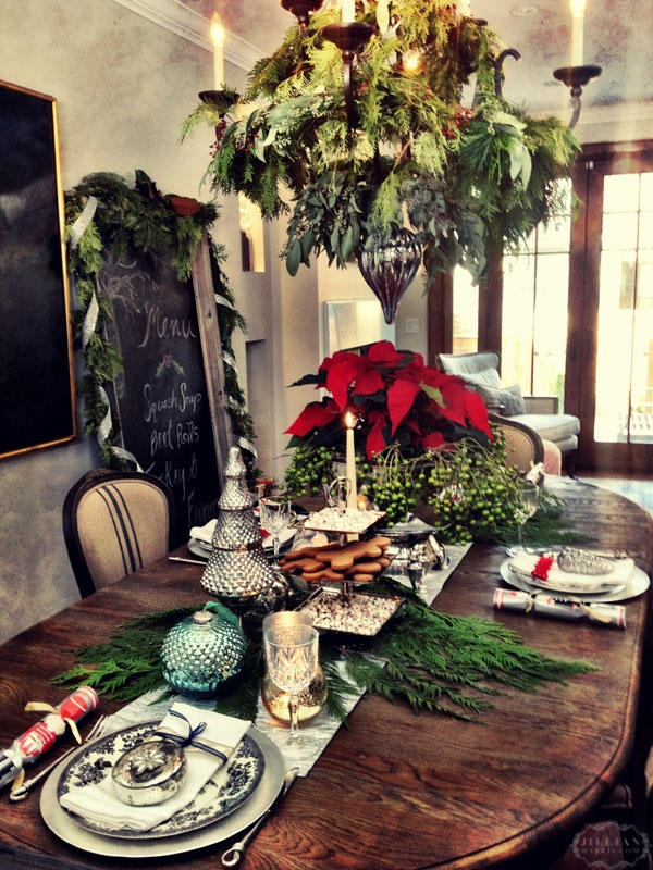 woodsy/homey table spread
