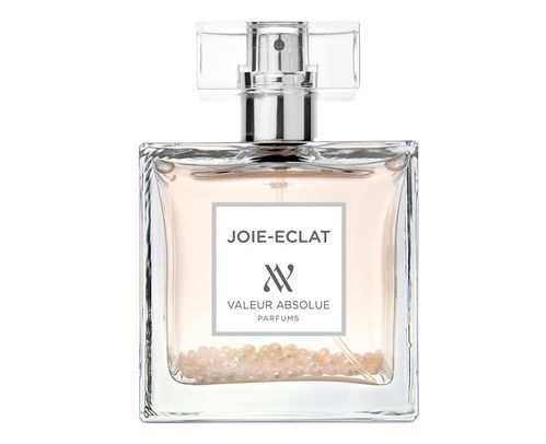 Les six nouveaux jus de Valeur Absolue : le flacon blanc du parfum Joie-Eclat