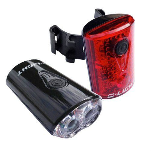 VeloChampion Bike Lights USB Rechargeable Front and Rear Set - Cycle Bicycle #CatEye