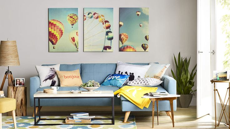 Create a room full of conversation starters like whimsical for Colorful whimsical living room
