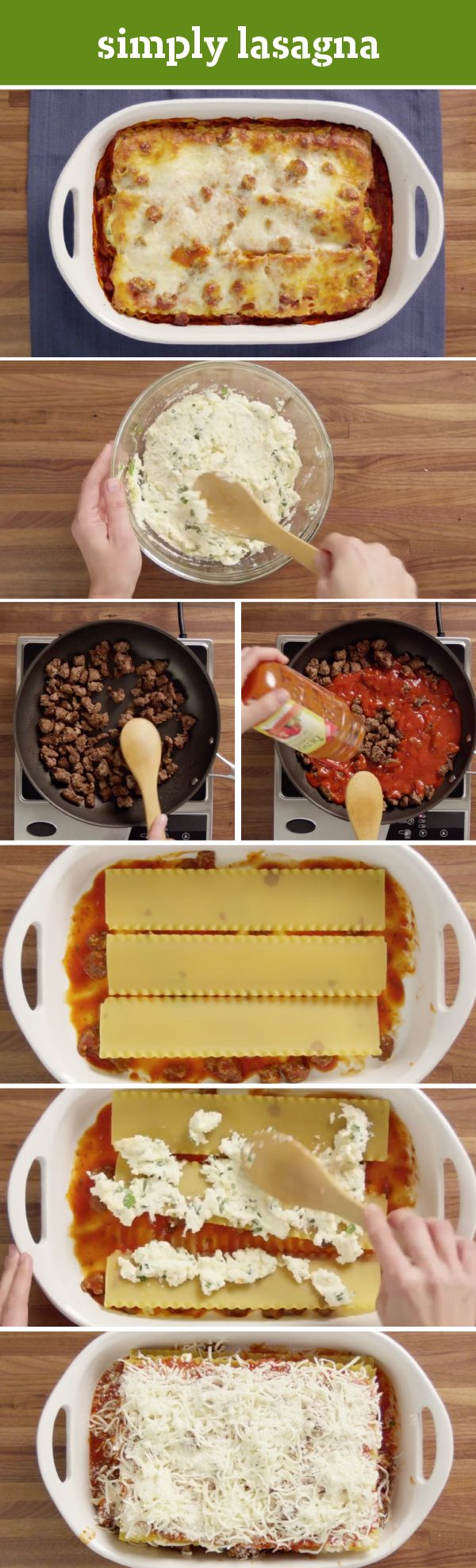Simply Lasagna – Quite simply, this is the only lasagna recipe you'll ever need. It takes just 20 minutes to prep this cheesy crowd-pleaser in the oven—with OLIVO by CLASSICO traditional pasta sauce, KRAFT shredded mozzarella, grated Parmesan, and ricotta cheeses. This classic Italian dish serves 12, so it's perfect for serving at your next get-together with friends and family.