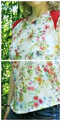 Top / Bluse mit Blumen - Flower Top