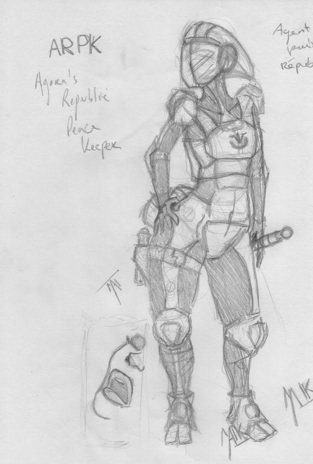 Character design ARPK, Matthieu