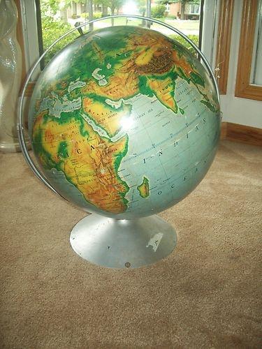 172 best vintage world globes images on pinterest world globes large 16 vintage world globe nystrom 1967 gumiabroncs Gallery