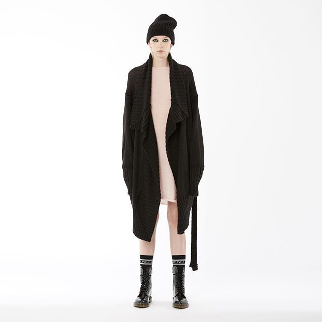 new arrivals: nom*d 'kilo' cardigan in 'black' available in zambesi stores now! #nomd #rem #zambesistore