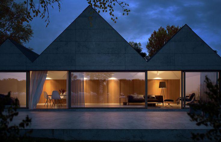 Concrete single family house