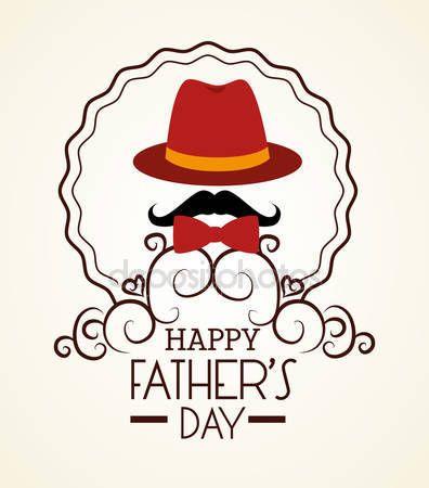 Pobieraj - Ojcowie szczęśliwy dzień karta projekt — Ilustracja stockowa #70227179