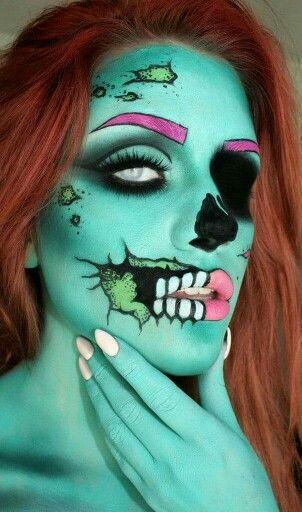 Zombie, halloween, makeup