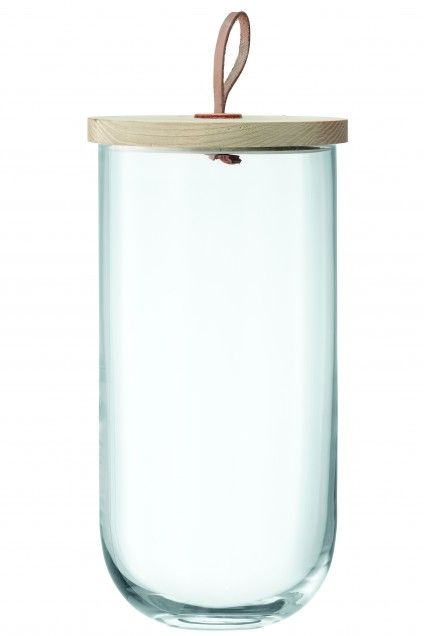 Tall Glass Container with Lid   | Calypso St. Barth