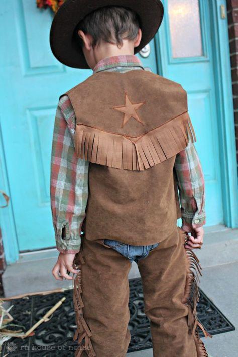 DIY: Kids Costume - Cowboy Chaps and Vest
