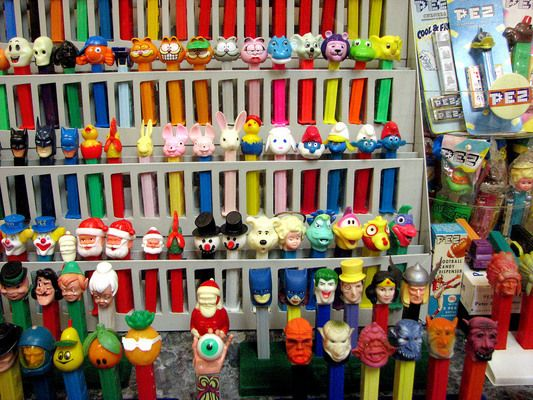 Burlingame Museum of Pez Memorabilia   Atlas Obscura: Gary and Nancy Doss display their collection at the Burlingame, California Museum of Pez Memorabilia. Originated by Viennese confectioner Eduard Haas III as Pfefferminz.